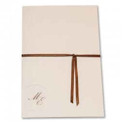 Partecipazione Libro Rettangolare Oriz con Codine con Lunetta