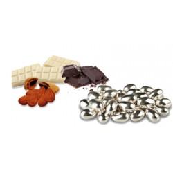 Confetti Mandorla Cioccolato Argentata Lucida
